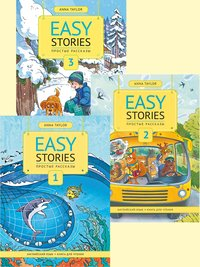 Anna Taylor Комплект. Простые рассказы. Книги для чтения. Ч. 1, Ч. 2. Ч. 3. Английский язык (3 книги)