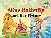 Благовещенская Т.А. Бабочка Алина и ее картина. Aline-Butterfly and Her Picture. (на англ яз) 1 уровень