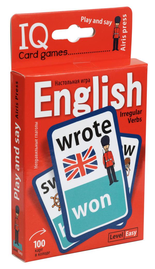 Умные игры с картами. Английские неправильные глаголы. Уровень 1. Красный