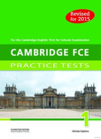 Practice Tests for Cambridge First 2015 (FCE) 1:  TB
