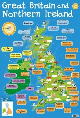 Wallcharts: Great Britain and Northern Ireland